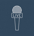 news microphone and media design vector image vector image