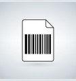 paper barcode icon library file illlustration vector image
