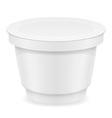 plastic container of yogurt or ice cream 04 vector image vector image