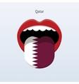 Qatar language Abstract human tongue vector image vector image