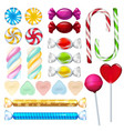 realistic sweets and candy vector image