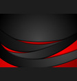 red and black abstract wavy corporate background vector image vector image