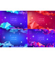 set abstract triangular banners vector image vector image