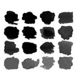 set black watercolor stain vector image vector image