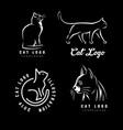 set logotypes cat vector image vector image