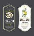 set of labels for olive oils elegant design for vector image vector image