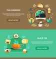 tea ceremony horizontal banners vector image vector image