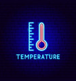 temperature neon label vector image