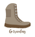 travelling high shoe icon vector image