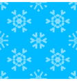 Various white crochet snowflakes on blue vector image vector image