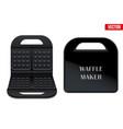 waffle maker machine vector image