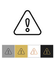 warning icon important problem message sign vector image vector image