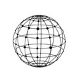 wireframe sphere with dots vector image