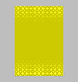 yellow abstract halftone geometric circle and vector image vector image