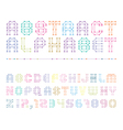 colorful abstract alphabet with numbers vector image