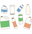 Various packages for dairy products vector image