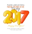 Merry Christmas and Happy New Year 2017 party vector image