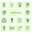 14 imagination icons vector image vector image
