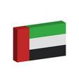3d flag united arab emirates