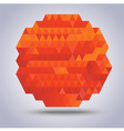 Abstract geometric orange with triangles pattern vector image vector image