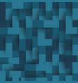abstract geometric shape from flat blue elements vector image vector image