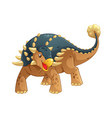ankylosaurus cartoon vector image vector image