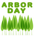 arbor day planted trees vector image