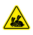 attention rabbit sex caution bunny hare vector image vector image