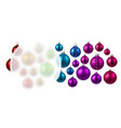 background with colorful christmas balls vector image