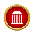 Bank icon in simple style vector image vector image