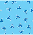 birds outline on blue seamless pattern background vector image
