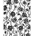 black roses seamless pattern vector image vector image