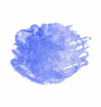 blue watercolor stain isolated on white background vector image