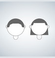 boy and girl head icon isolated on white vector image vector image