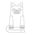 cartoon lines cat vector image vector image