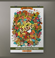 cartoon watercolor hand drawn doodles easter vector image