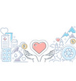 charity - modern line design style vector image vector image