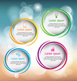 circle infographic business template design Can be vector image vector image