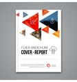 Cover report colorful pilygonal geometric vector image