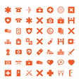 cross icons vector image vector image
