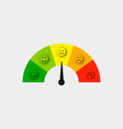 customer satisfaction meter vector image vector image