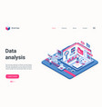 data analysis service concept isometric landing vector image vector image
