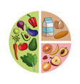diagram healthy food image vector image vector image