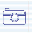 digital photo camera sign navy line icon vector image vector image