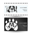 dog care business card vector image vector image