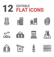 downtown icons vector image vector image