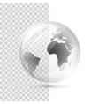 earth transparent globe vector image vector image