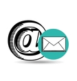 email mail concept chat message icon vector image vector image