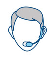 face man call center vector image vector image