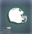 football helmet icon On the blue-green abstract vector image